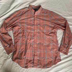 Men's Banana Republic Long Sleeve Plaid Shirt Lrg
